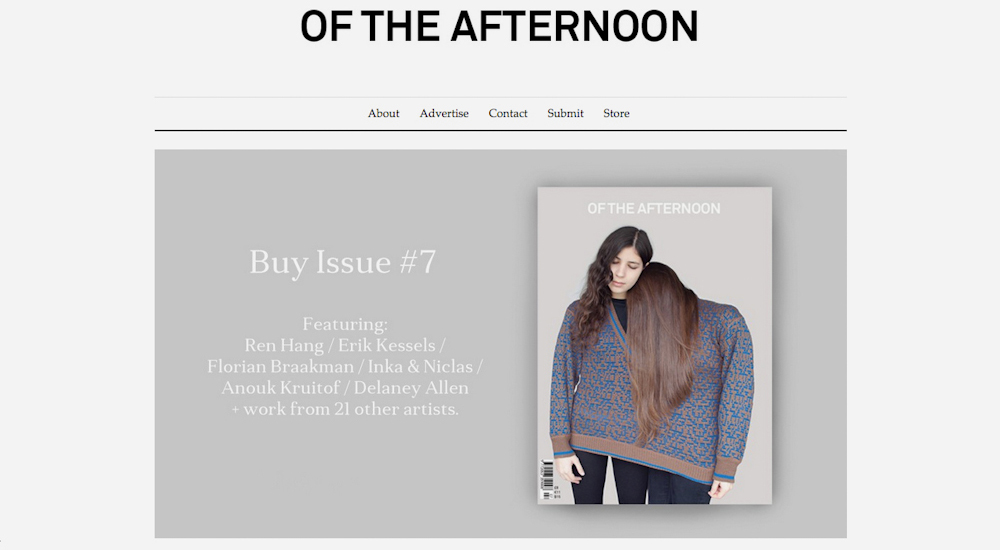 """OF THE AFTERNOON"" MAGAZINE AND POP-UP EXHIBITION"